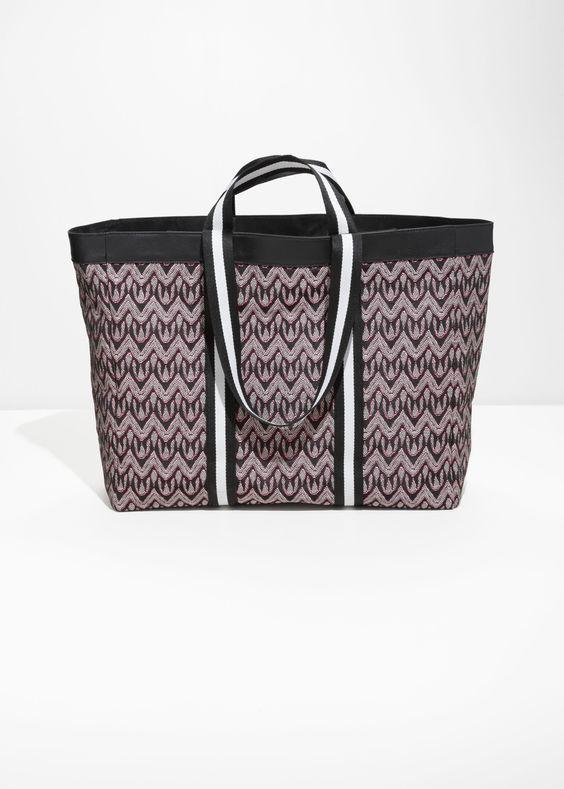 Jacquard Waterproof Tote Bags