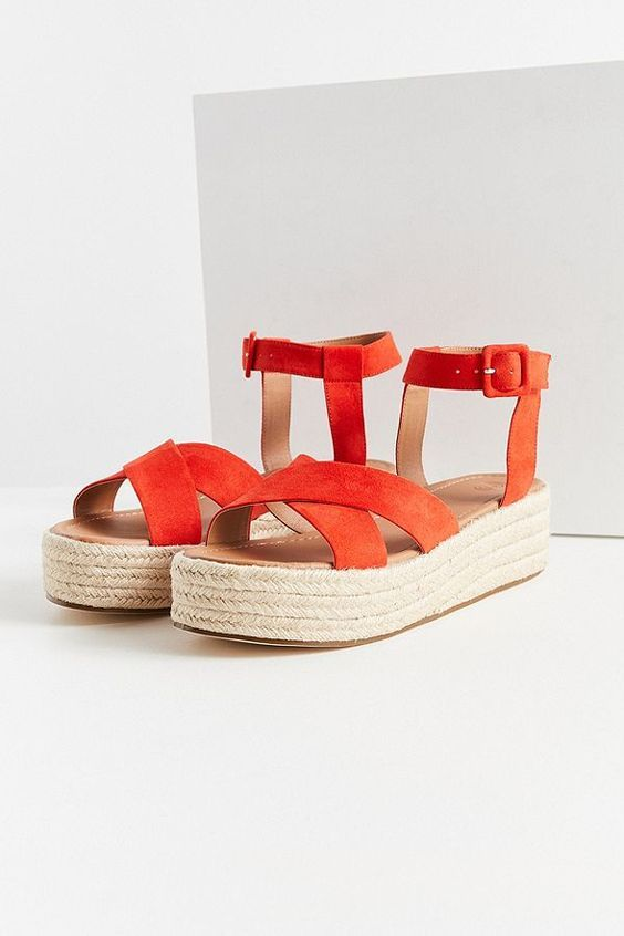 Cross Strap Espadrille Sandals under 100