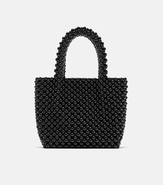 Zara Beaded Mini Shopper