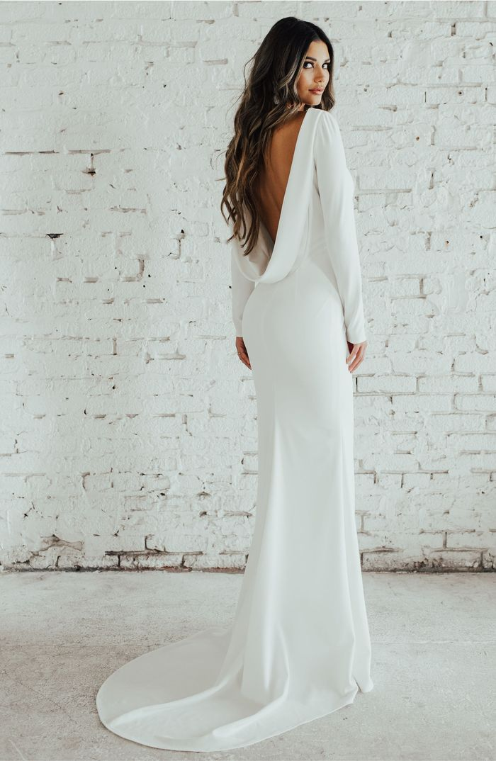 20 Simple Fall Wedding Dresses For The Bride Who What Wear
