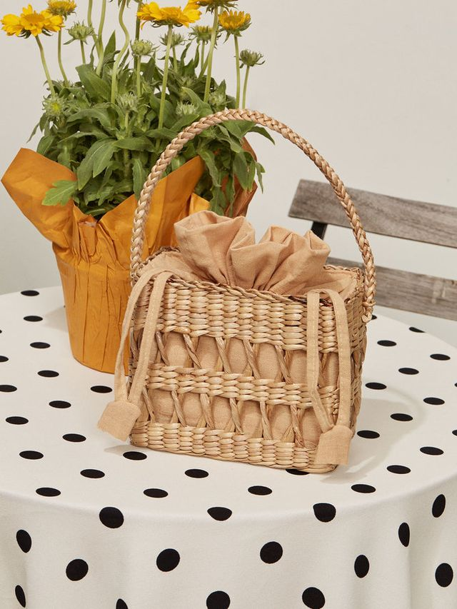 Reformation Open Weave Box Bag