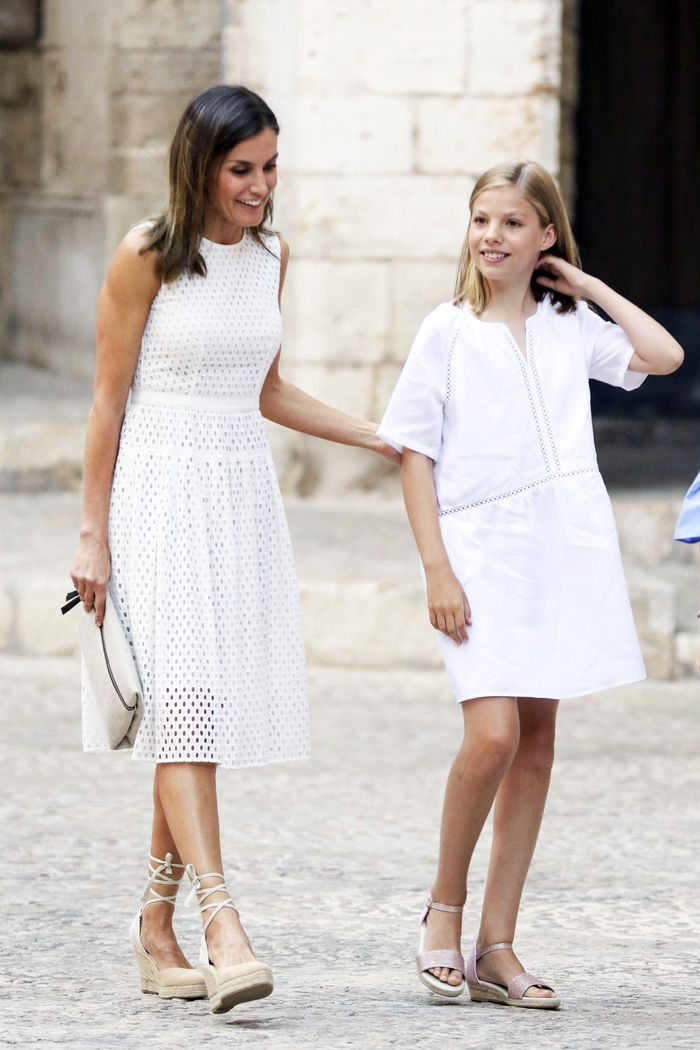 Queen Letizia's affordable summer shoes