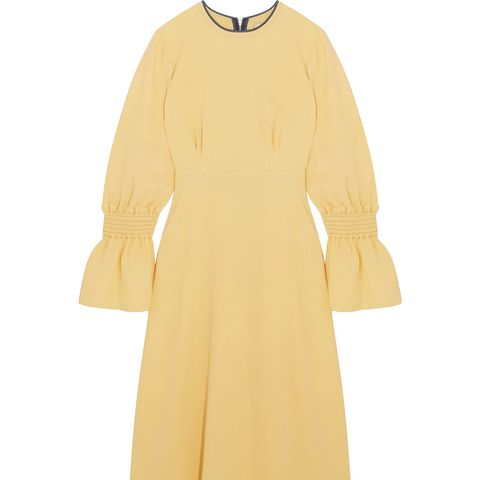Duana Shirred Silk-Georgette Midi Dress