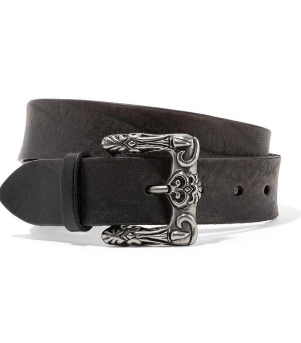 Textured-leather Belt
