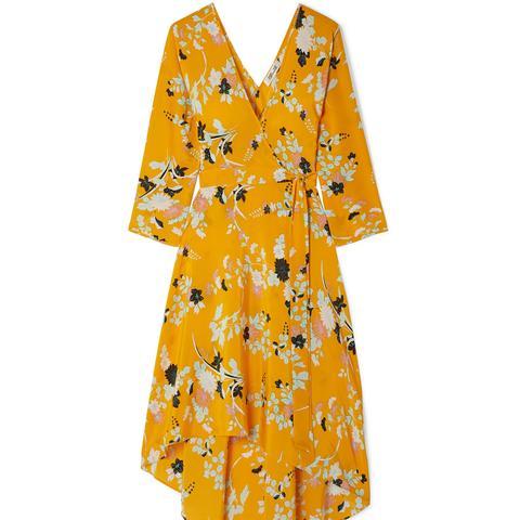 Eloise Floral-Print Silk Wrap Dress