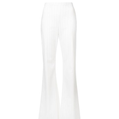 Pinstriped Flared Trousers