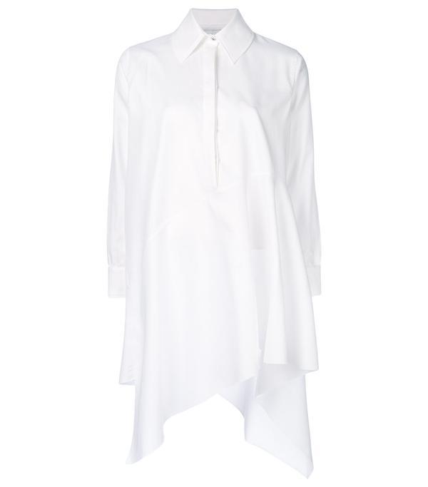 asymmetric hem shirt dress