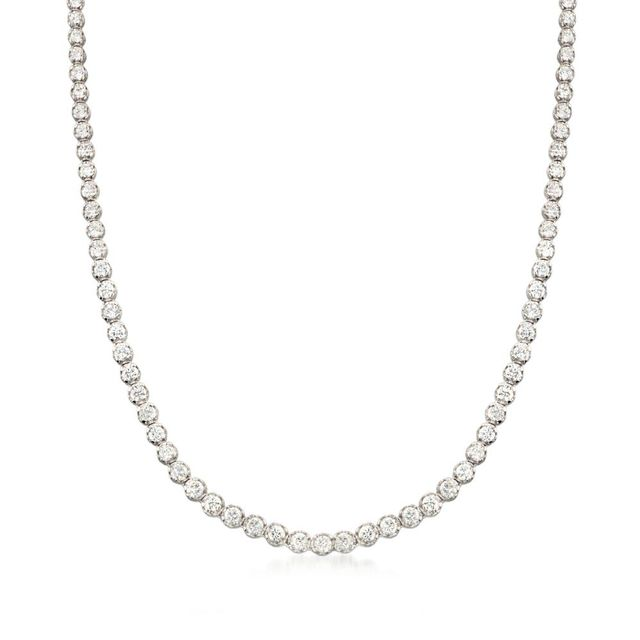 Ross Simmons 10.00 ct. t.w. CZ Tennis Necklace in Sterling Silver Details