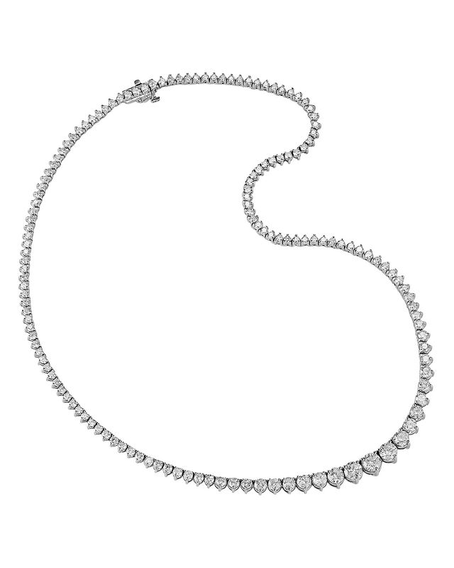 Diamond Tennis Necklace in 14K White Gold, 10.0 ct. - 100% Exclusive