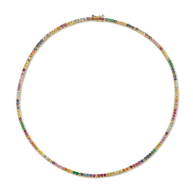 The Last Line Perfect Rainbow Eternity Necklace