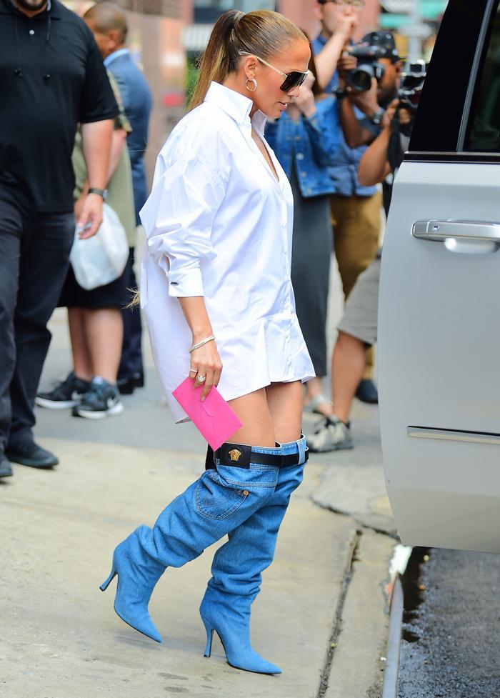 Jennifer Lopez Wore Insane Denim Boots Who What Wear
