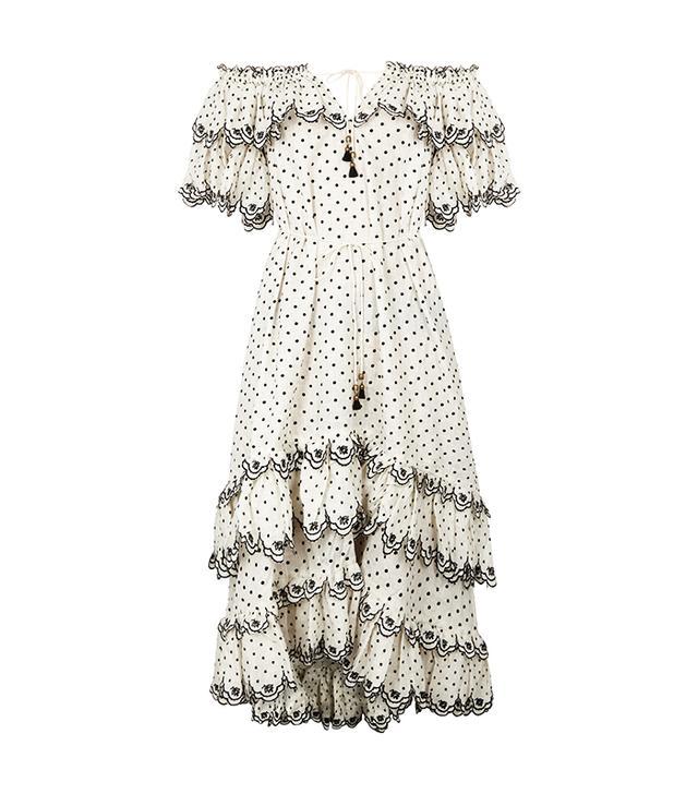 Zimmermann Off-the-Shoulder Linen Midi Dress