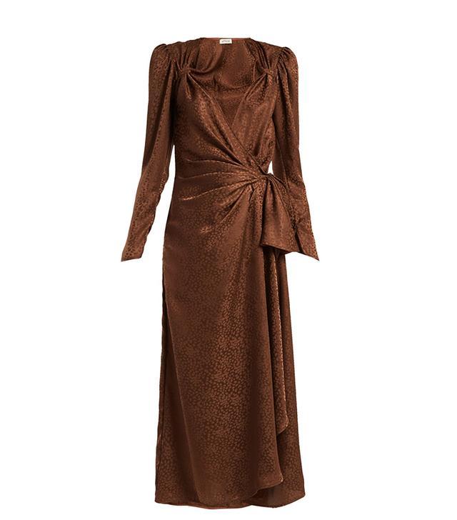Attico Brown Jacquard Dress