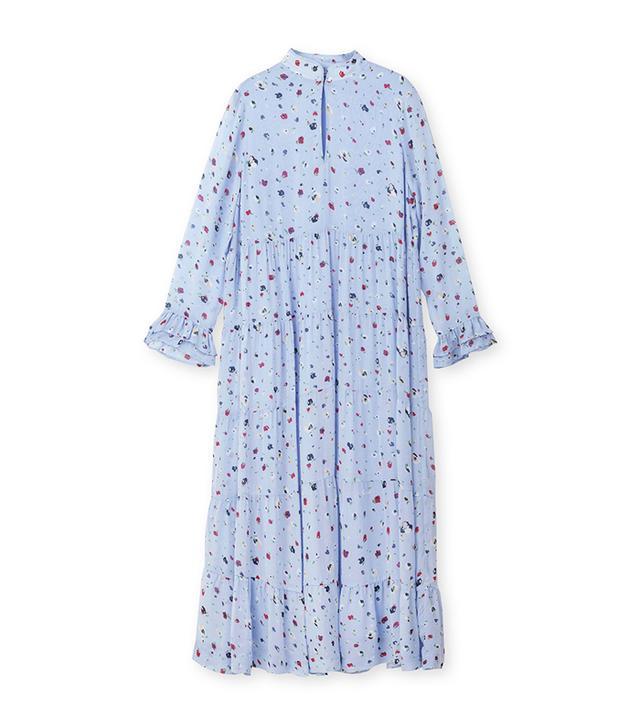 Dainty Georgette floral midi dress