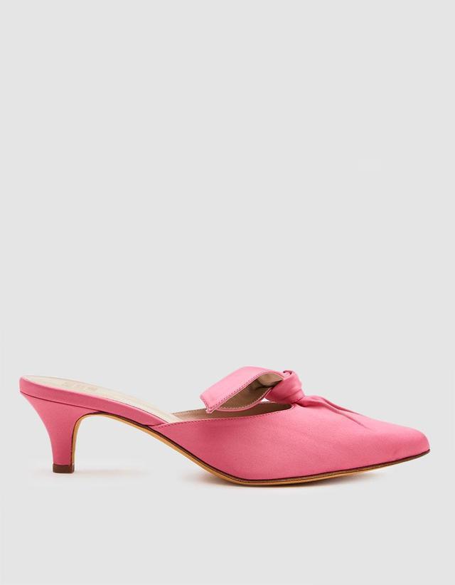 Palo Satin Mule in Pink