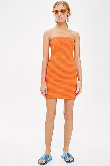 Textured Bandeau Dress