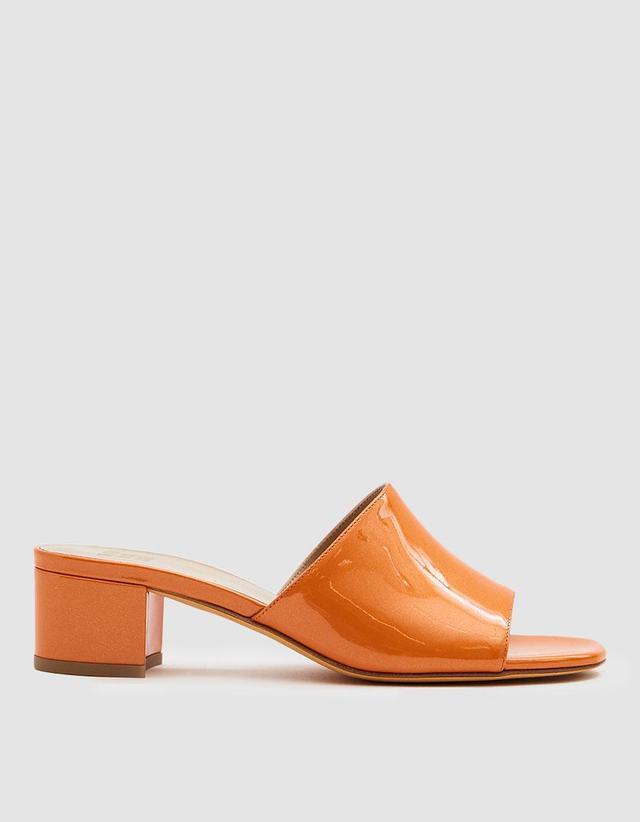 Sophie Patent Slide in Orange