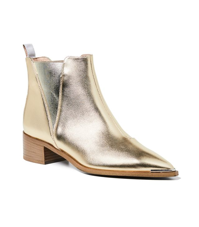 Acne Studios Jensen Booties in Gold