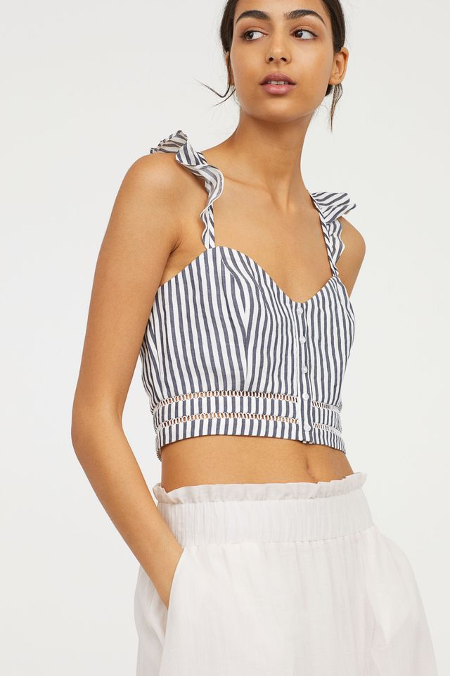 H&M Bustier With Ruffles