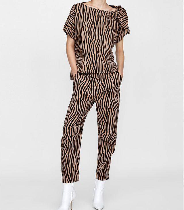 Zara Two-Toned Printed Pants