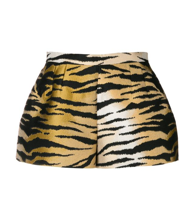 tiger printed shorts