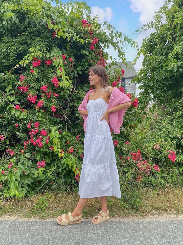 What To Wear In August: Maxi Dress and Cardigan