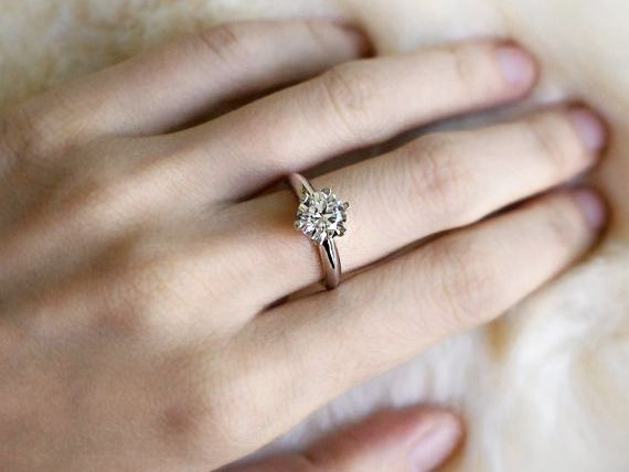 pretty silver engagement rings we're eyeing
