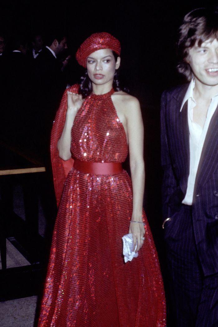 Bianca Jagger style sequins