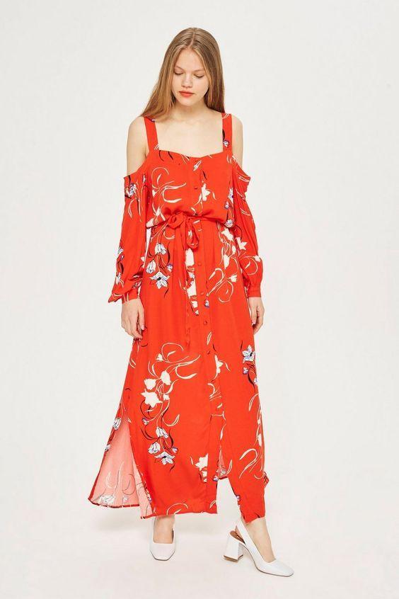 fall Floral Maxi boho Dresses