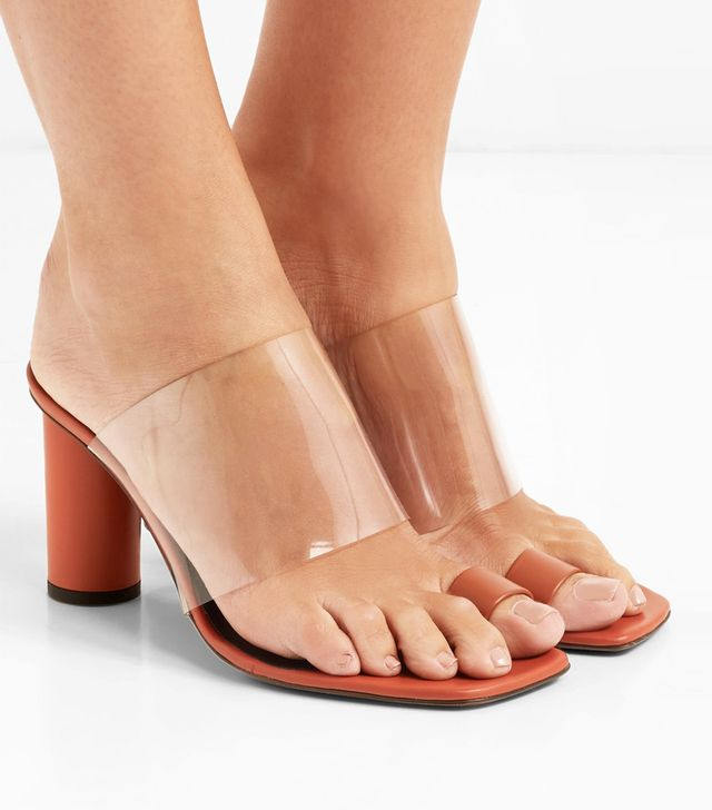 Chost Leather and PVC Sandals