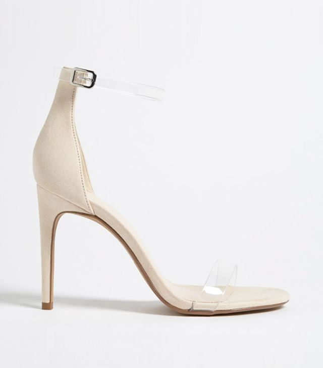 Forever 21 Clear Strap Stiletto Heels