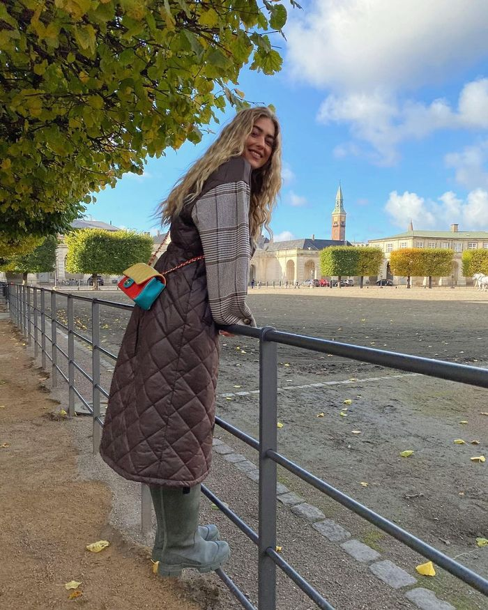 Affordable winter fashion trends: quilted coat