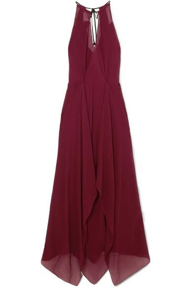 Risby Cutout Hammered Silk-chiffon Gown