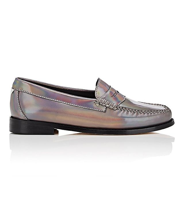 Re/Done x Weejuns Whitney Holographic Leather Penny Loafers