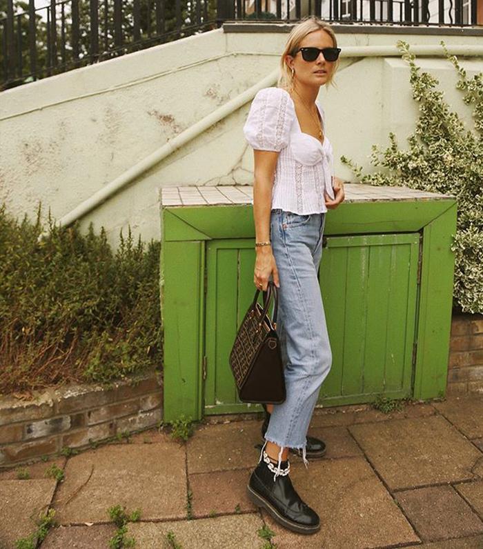 Best fendi bags: Lucy Williams carrying a Fendi handbag