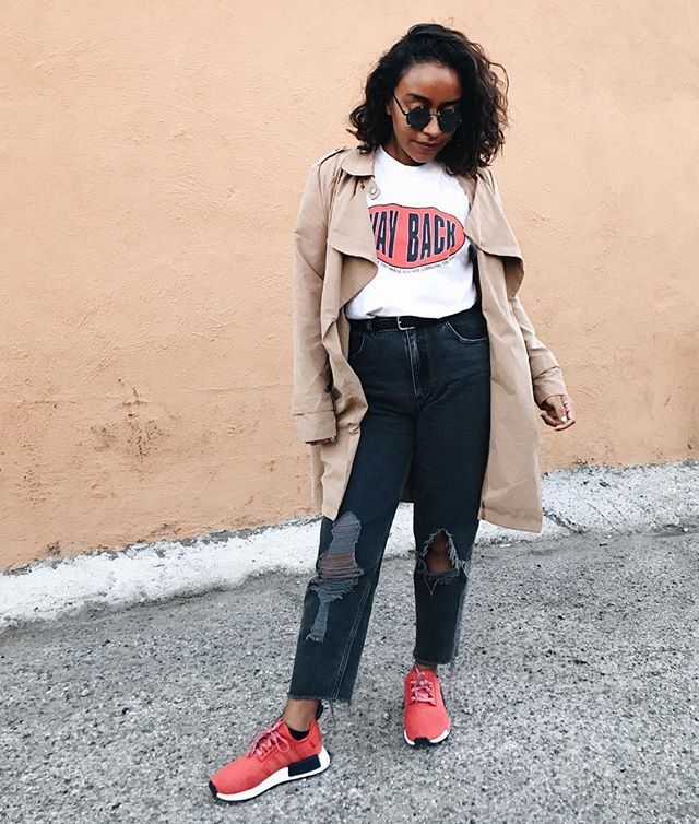 15 Bold Red Sneaker Outfits | Who What Wear