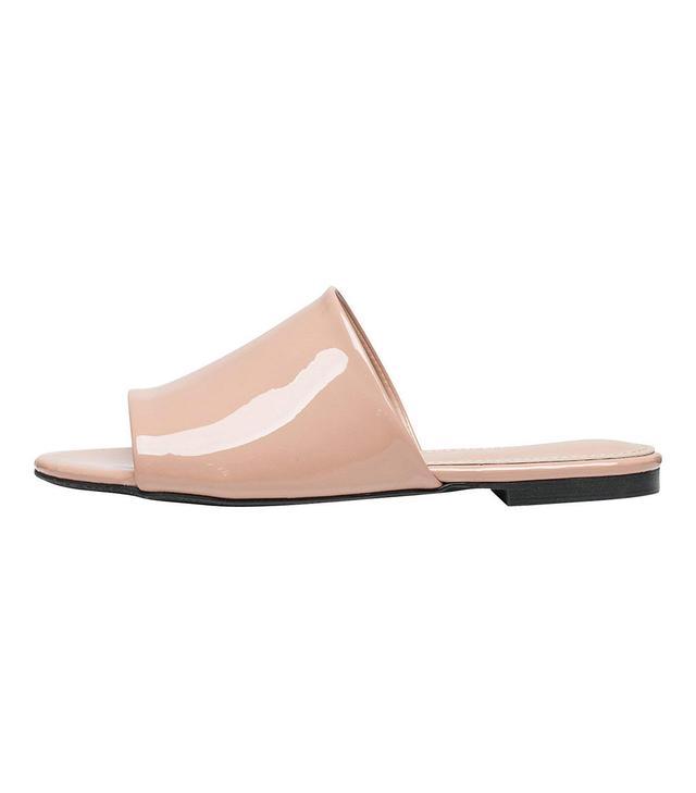 AnnaKastle Single Wide Strap Flat Sandals