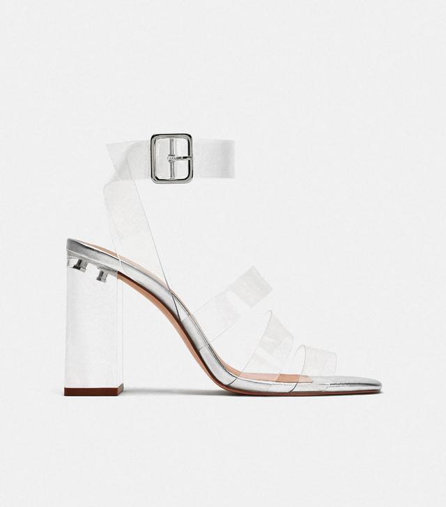 Zara High Heeled Vinyl Sandals