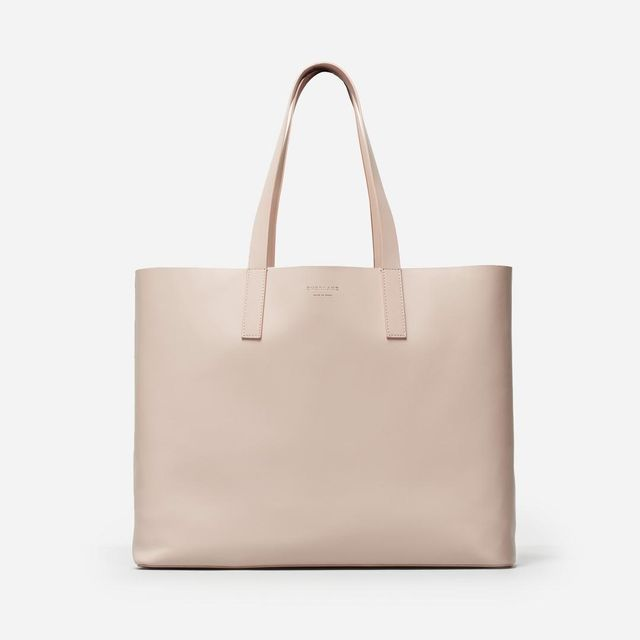 Women's Leather Market Tote Bag by Everlane in Blush