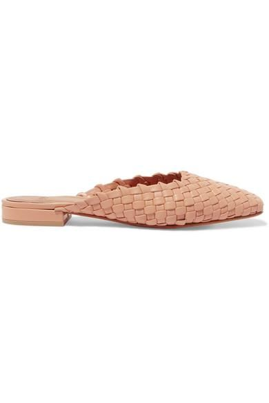 Galia Woven Leather Slippers