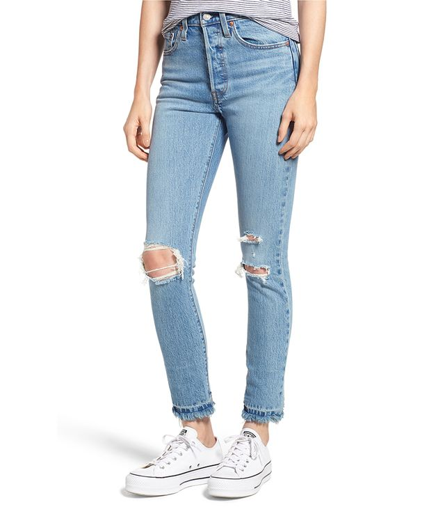 Levi's 501 Ripped Skinny Jeans