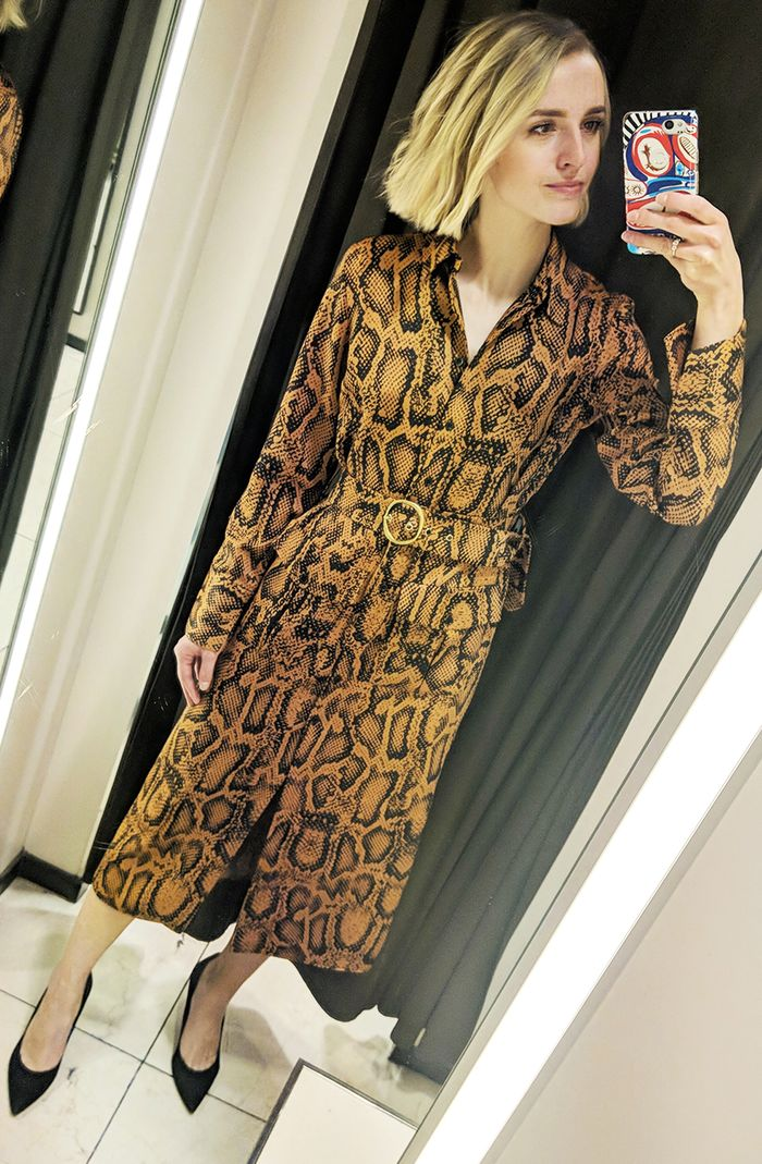 Best snake print dresses: Joy Montgomery