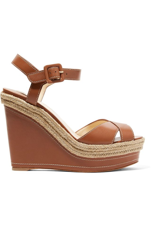 Almeria Leather Wedge Sandals