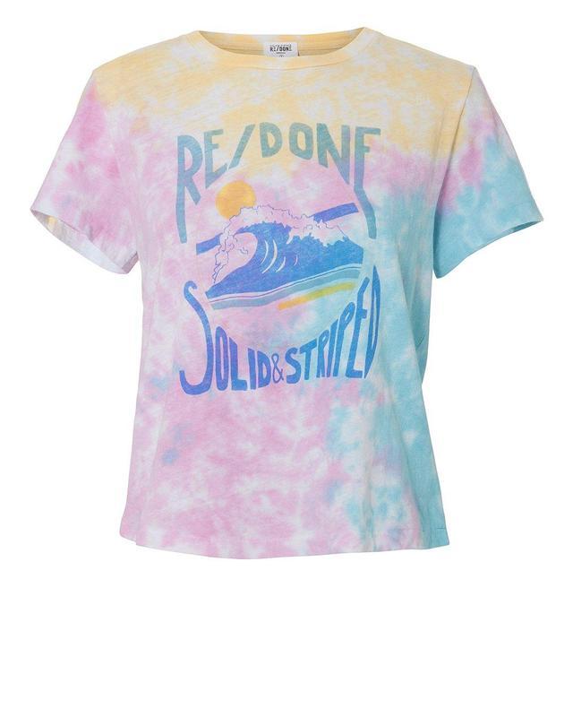 Re/Done x Solid & Striped Venice Tie Dye T-Shirt Multi M