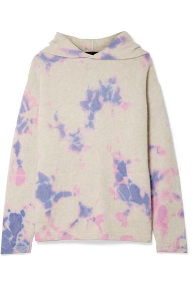 Tie-dyed Cashmere Hooded Sweater