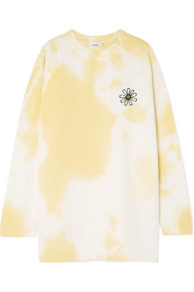 Appliquéd Tie-dyed Cotton-jersey Sweatshirt