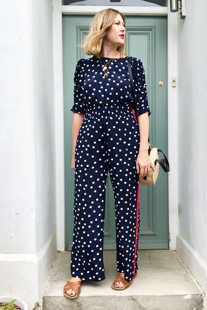Marks and Spencer polka dot jumpsuit: worn by Finlay Fox