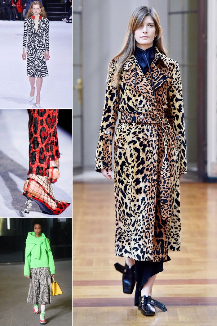 Autumn winter fashion trends 2018:  animal prints seen at Balenciaga, Tom Ford, Victoria Beckham and MSGM