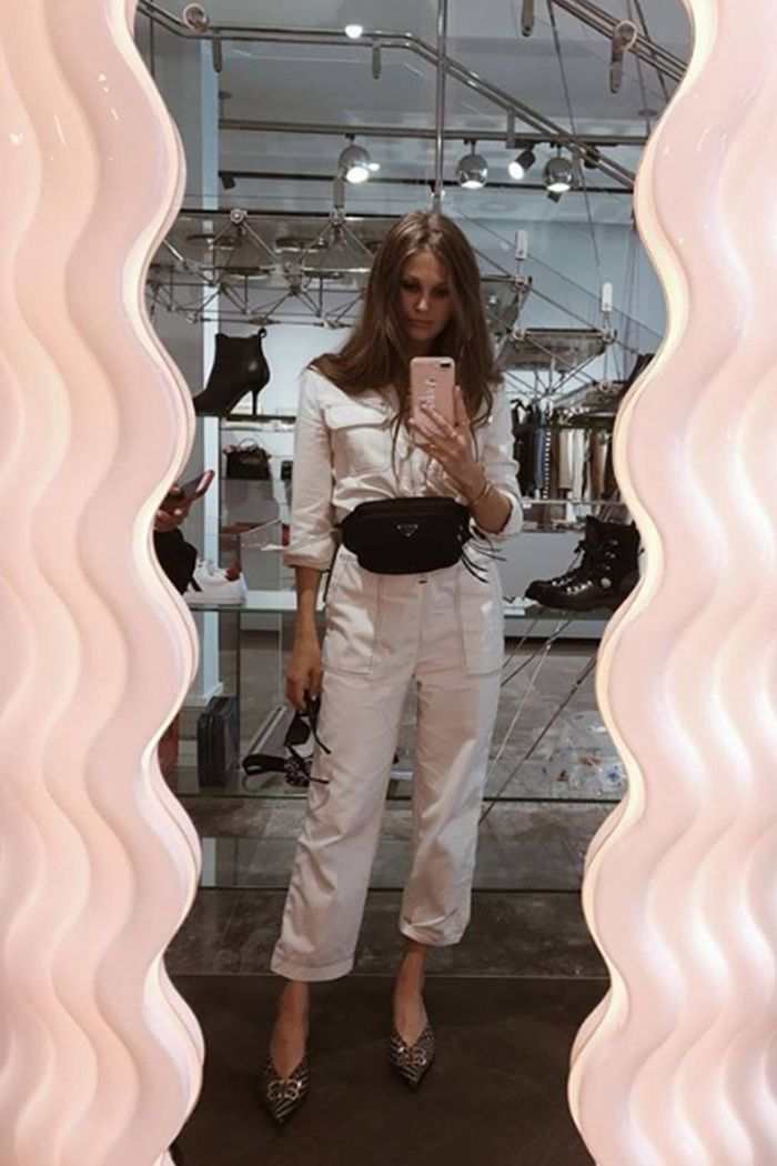 Boilersuit fashion trend: Filippa Hägg wearing Zara jumpsuit