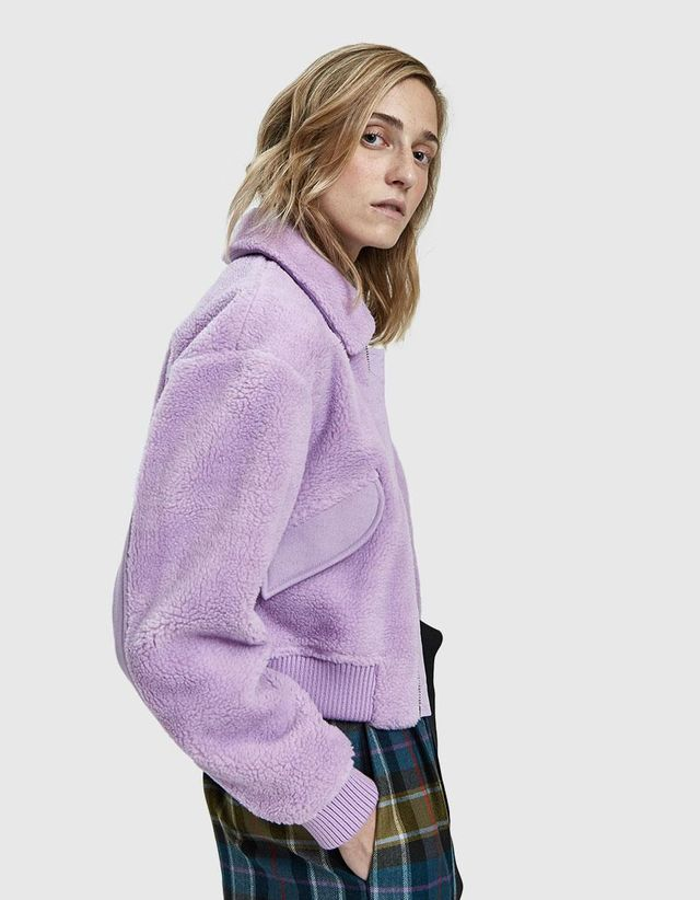Faux Shearling Gus Cropped Jacket